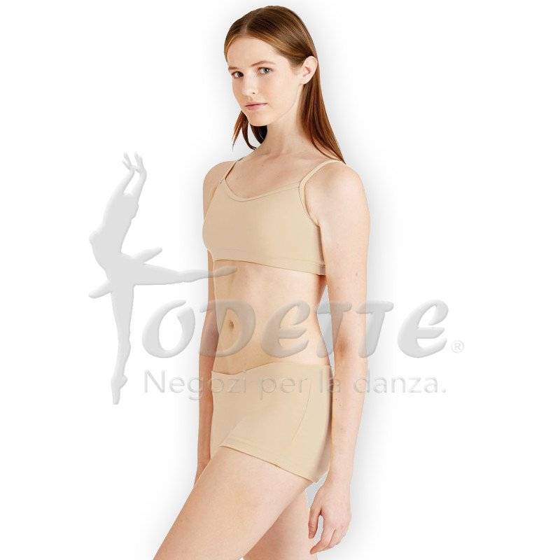 Capezio low rise nude shorts