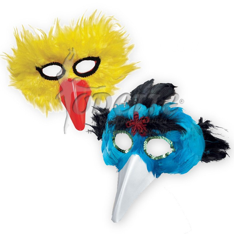 Feather Bird/beak Mask