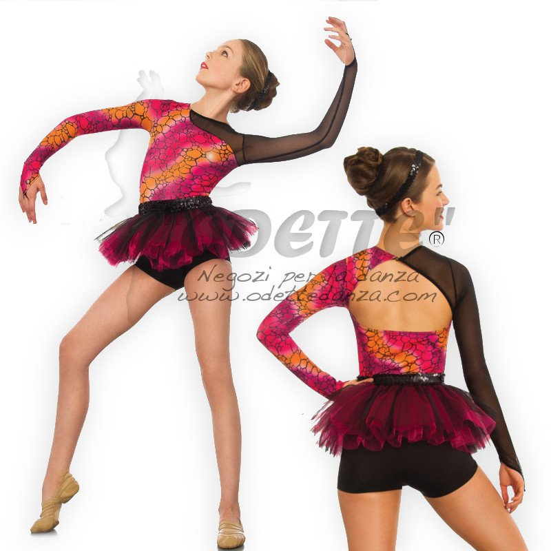 Long Sleeved Mesh/Print tutu